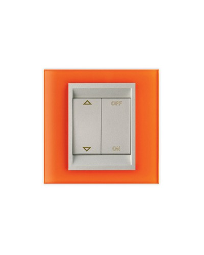 PLAQUE VERRE ORANGE