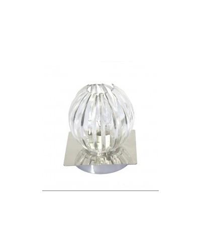 Lampe de table transparente.