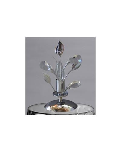 Lampe de table en cristal chromé.